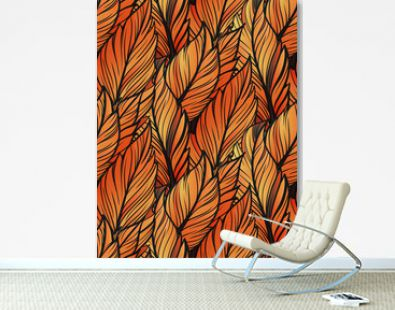 Bright leaves seamles pattern