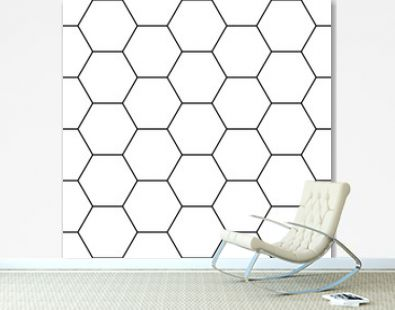 Vector modern seamless geometry pattern hexagon, black and white abstract geometric background, trendy print, monochrome retro texture, hipster fashion design