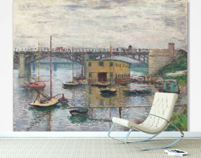 Bridge at Argenteuil on a Gray Day (1876) by Claude Monet