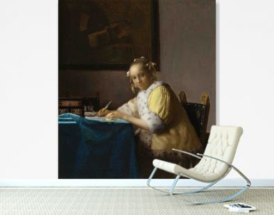 A Lady Writing a Letter (ca. 1665) by Johannes Vermeer