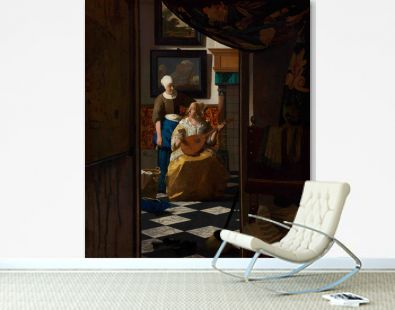 The Love Letter (ca. 1669 –1670) by Johannes Vermeer