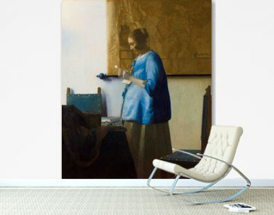 Woman Reading a Letter (ca. 1663) by Johannes Vermeer