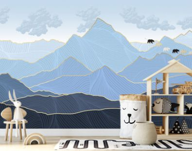 graphic mountains, linear mountains, abstraction