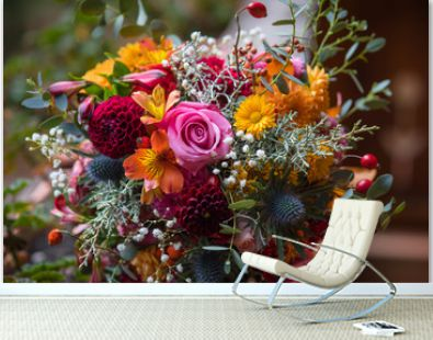 Beautiful colorful mixed flower bouquet