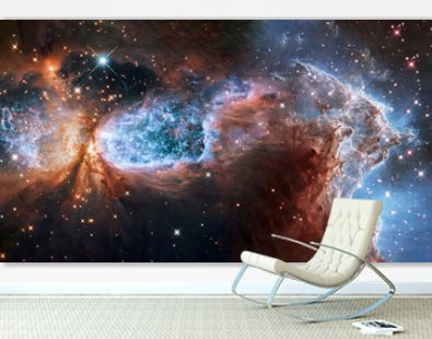 Somewhere in extreme deep space far galaxies and stardust. Science fiction background. Elements of this image were furnished by NASA.