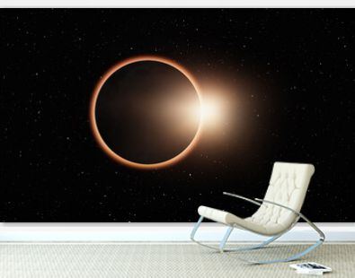 Ringed solar eclipse