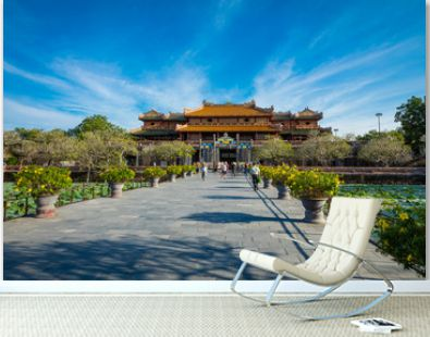Imperial Royal Palace of Nguyen dynasty in Hue, Vietnam. Unesco World Heritage Site.
