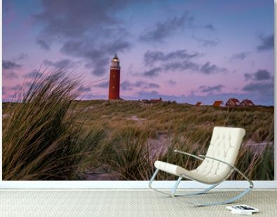 Lighthouse texel Island Netherlands, Lighthouse during sunset on the Island of Texel