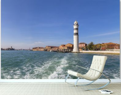 Murano Island and the lighthouse on the island