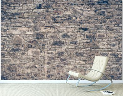 Background of stone castle wall.