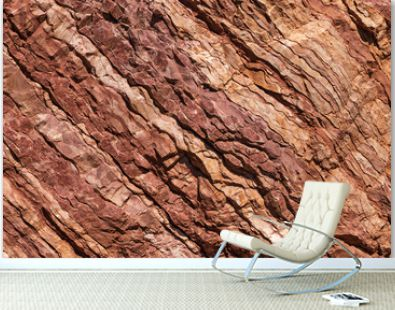 Natural texture of red stone rock.