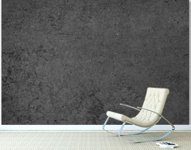 Blank concrete wall black color for texture background