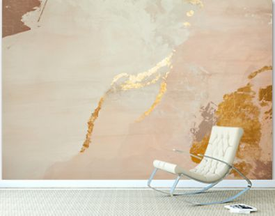 Decorative stucco wall background with golden backdrop