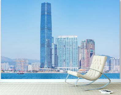 View of Hong Kong harbour by Kowloon.