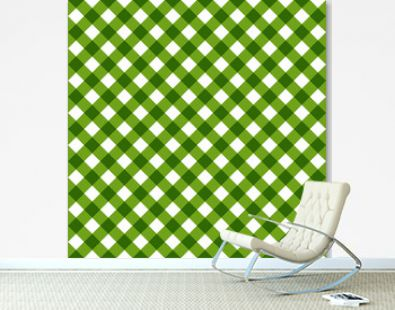 Green Tablecloth Multiply Colors Pattern