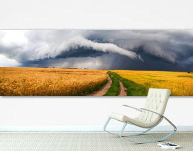Country road, storm