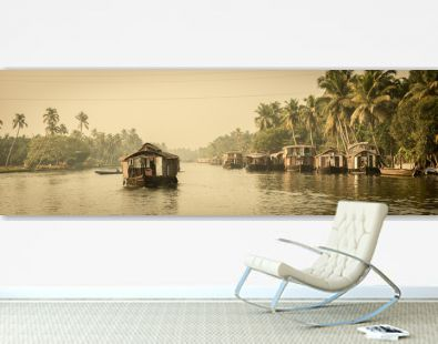 Traditional Indian houseboat