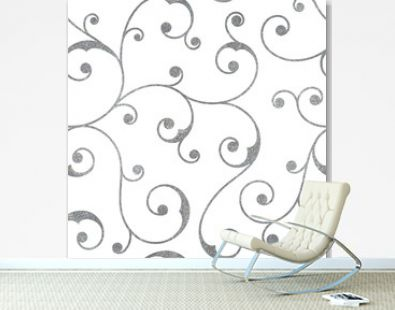 Abstract silver seamless vintage pattern.