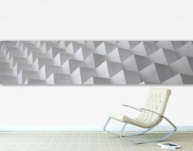 Cubic Aluminum Background (Website Head) - 3D Illustration