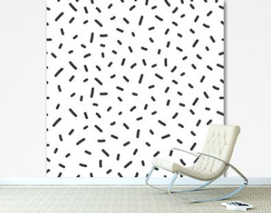 Hand drawn seamless pattern with confetti