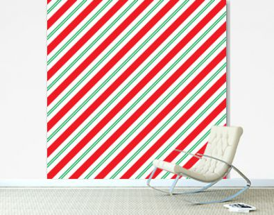 Seamless Christmas Stripe Wrapping Paper Pattern