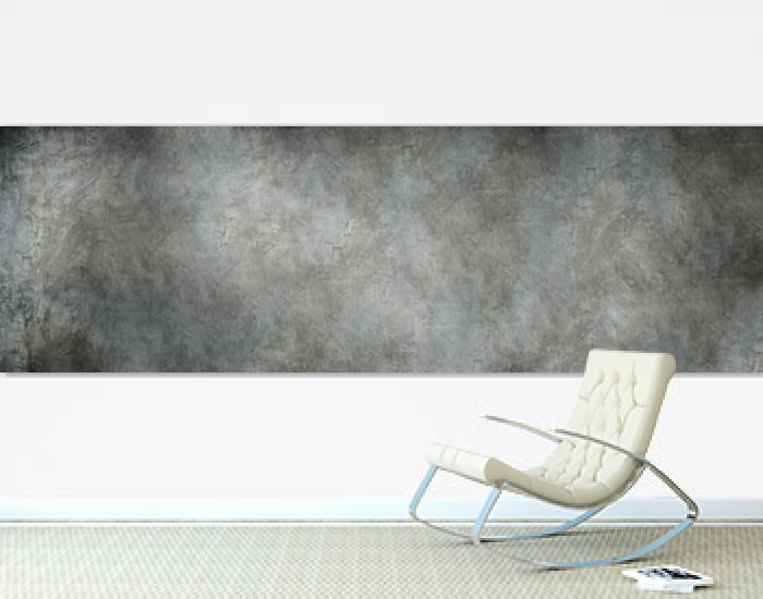 panorama shot of grey polished concrete background.