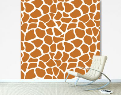 Vector seamless pattern with giraffe skin texture. Repeating giraffe background for textile design, wrapping paper, scrapbooking. Animal textile print.