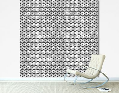 Seamless pattern with silver sequins