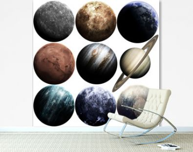 Awesome quality planets of solar system isolated on white. Elements of this image furnished by NASA