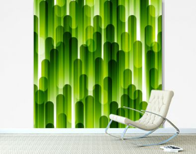 Seamless pattern with green stripes