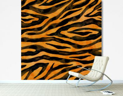 Tiger skin seamless background
