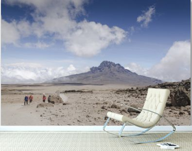 View of Cloudy Mawenzi to Kibo shelter / View of Mawenzi to Kilimanjaro at an altitude of 4,700 meters from Kibo Hat shelter