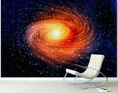 Spiral galaxy in outer spaces