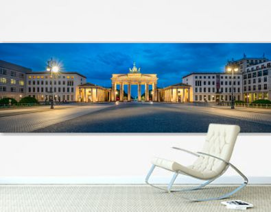 Brandenburger Tor Panorama am Pariser Platz, Berlin, Deutschland