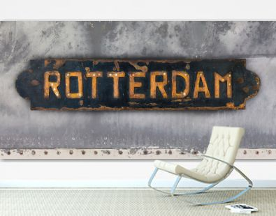 Ship plate with an imprint of the Dutch city of Rotterdam