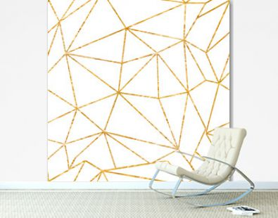 Gold geometrical texture background, Vector illustration seamless pattern