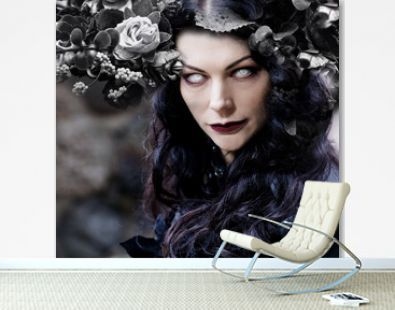 The black witch with white eyes