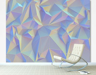 Abstract background image, connections in lines and geometric triangular shapes. Colorful vintage pastel.