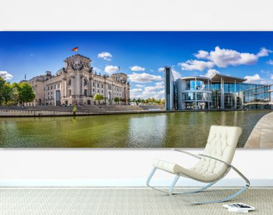 panoramic view at the government district in berlin