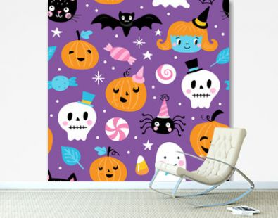 Seamless pattern for Halloween holiday
