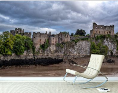 Ruins of the Chepstow Castle in Southern Wales