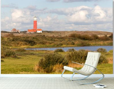Eierland Lighthouse on the northernmost tip of the Dutch island of Texel