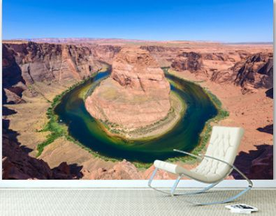 Viewpoint at Horseshoe Bend - Grand Canyon with Colorado River - Located in Page, Arizona - United States