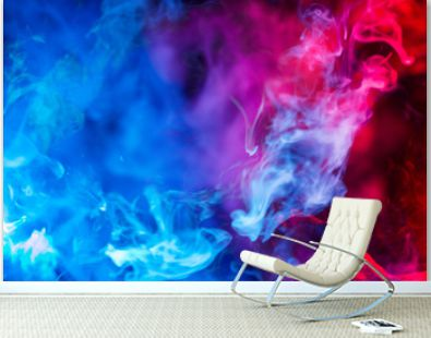 blue and red smoke background