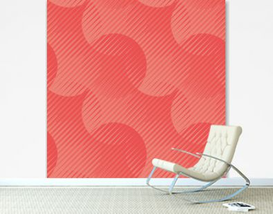 Geometric seamless motif shades of coral color