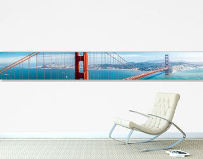 Golden Gate Bridge panorama with San Francisco skyline in summer, California, USA