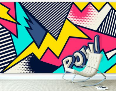 Comic. Pow! Pop art funny comic speech word. Fashionable poster and banner. Social Media Connecting Blog Communication Content. Trendy and fashion color retro vintage illustration background.
