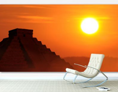 Vacation travel concept to the Mayan culture