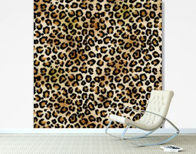 Leopard vector seamless pattern