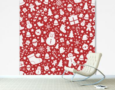 Christmas seamless pattern. Wrapping paper concept. Vector